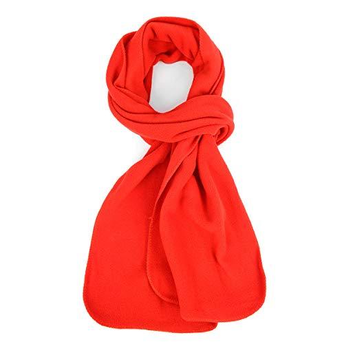 (Nolllia Solid Color Fleece Unisex Winter Scarf (Red))