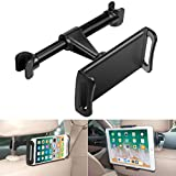 Earto Car Headrest Mount Compatible iPad Pro/Air/Mini, Kindle Fire HD, Nintendo Switch, Car Backseat Tablet Holder 360 Degree Rotate, Fits All 4~10.5 inch Devices (Black)