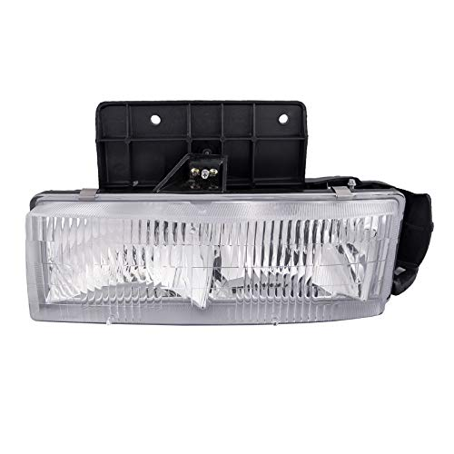 HEADLIGHTSDEPOT Chrome Housing Headlight Compatible with Chevrolet GMC Astro Van Safari Includes Left Driver Side Headlamp
