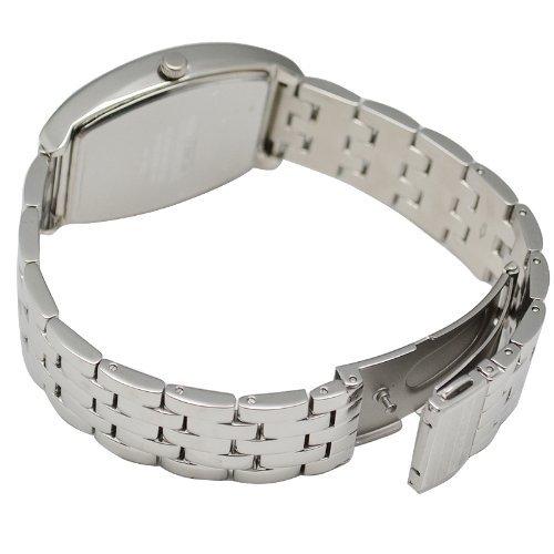 [Michel Jordan] michel Jurdain watch diamond 5P containing tonneau-shaped metal belt men's watch White x black SG-1000A-11B Men's by michel Jurdain (Michel Jordan)