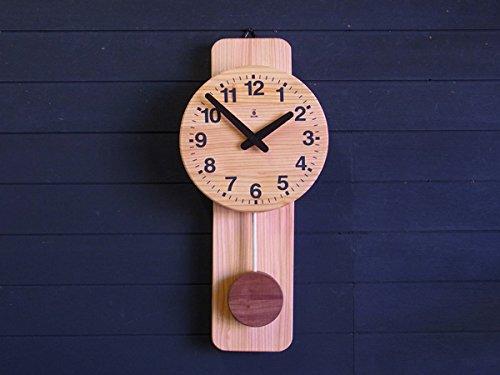 「キコリの時計」 木の振子時計 【丸型時計】 B00BO0O8TY