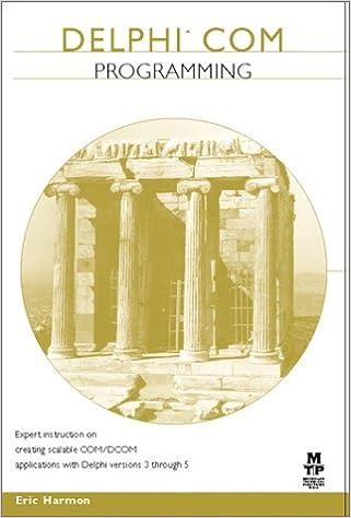 Delphi COM Programming: Amazon.es: Eric Harmon: Libros en idiomas extranjeros