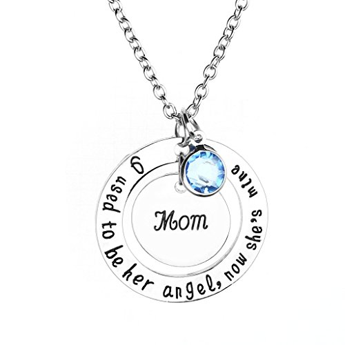 JOVIVI Crystal Memorial Necklace Memory