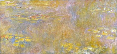 'Water-Lilies After 1916 By Claude Monet' Oil Painting, 12x26 Inch / 30x66 Cm ,printed On High Quality Polyster Canvas ,this High Resolution Art Decorative Prints On Canvas Is Perfectly Suitalbe For Basement Artwork And Home Decor And