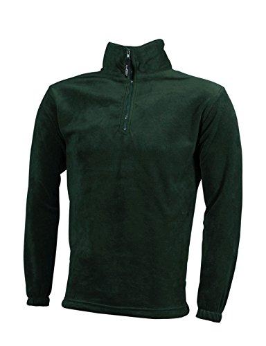 Dark Pesante Half Sportiva Felpa green In Fleece zip SqnActYc