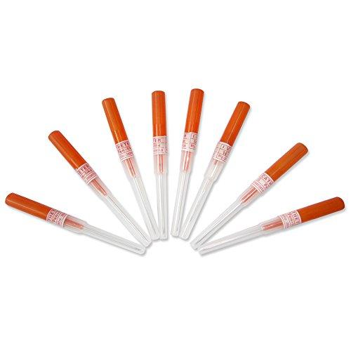 Piercings Needle,New Star Tattoo Box Of 50PCS 14G Gauge Steel Catheter Piercing Needles Supply