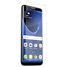 ZAGG Invisible Shield HD Dry-High Definition Clarity-Screen Protector for Samsung Galaxy S8-Case Friendly, Clear