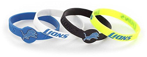 aminco NFL Silicone Bracelets 4-Pack