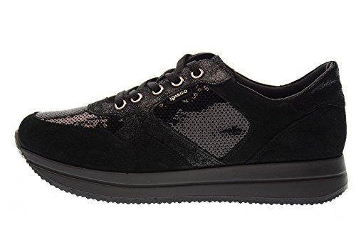 IGI&CO 87594/00 Frauenturnschuhe Schuhe Black