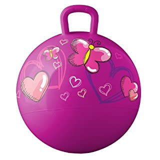 Hedstrom Hearts and Butterflies Hopper ball, kids ride-on, bouncy ball, 18-Inch