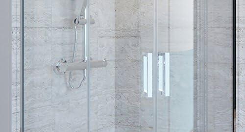 Olimpo duchas Box ducha Atena transparente 90 x 90 6 mm H195 anti cal: Amazon.es: Bricolaje y herramientas
