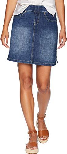 Skirt Jean Skort (Jag Jeans Women's Petite On The Go Skort, Blue Dive, 12P)