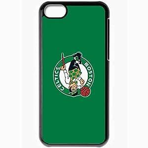Personalized iPhone 5C Cell phone Case/Cover Skin Nba Boston Celtics 5 Sport Black