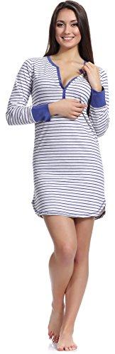 Blu Merry Camicia Donna da Style 1188 1a Notte FYYwPqZp