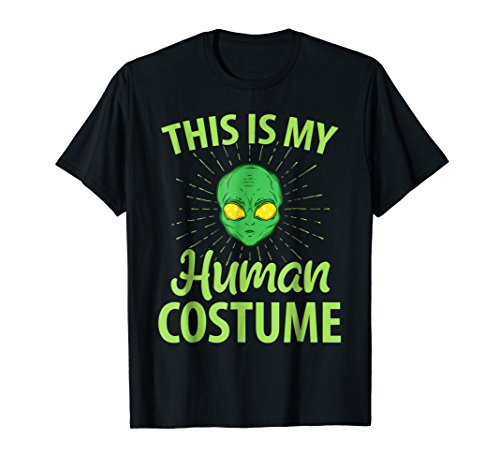 This Is My Human Costume T-Shirt Lazy Alien