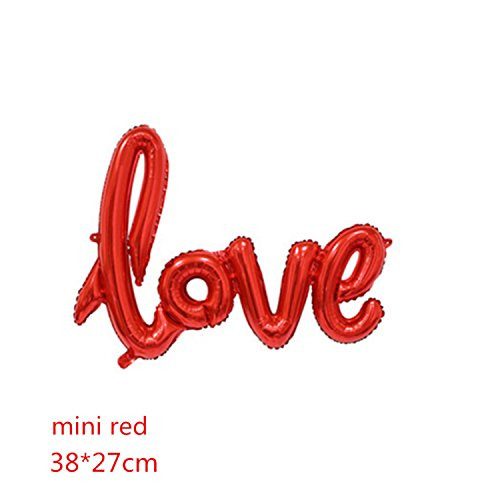 Michael Palmer Ligatures Love Letter Foil Balloon Anniversary Wedding Valentines Birthday Party Decoration Champagne Cup Photo Booth Props Mini Red Love