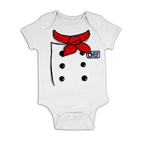 [Chef Costume Baby Grow - White 3-6 Months] (Baby Chef Costumes)