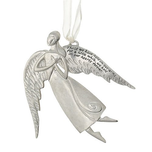 Pewter Angels Ornaments (Seasons of Cannon Falls Serenity Memory Angel Ornament)