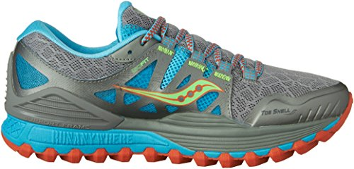 ISO Running Xodus Saucony Grey Grey Shoes Women's Blue Slime qt1TnEwHT