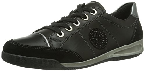 ara ROM, Women Derby Lace-up Black (Schwarz,gun 12)