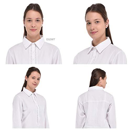 Size Blanco G52 Algodón wt Casual Camisa Plus Crudo ptAXSAwq