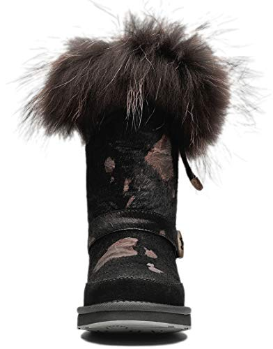 Brown Snow Pot Women Cow amp;MU Boots AU Pattern Winter w8YF6q