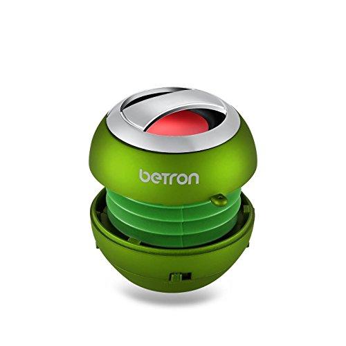 BPS60 tragbare, kabellose Mini Bluetooth Lautsprecher von Betron für iPad, iPhone, iPod, Handys, MP3 Player - in Grün