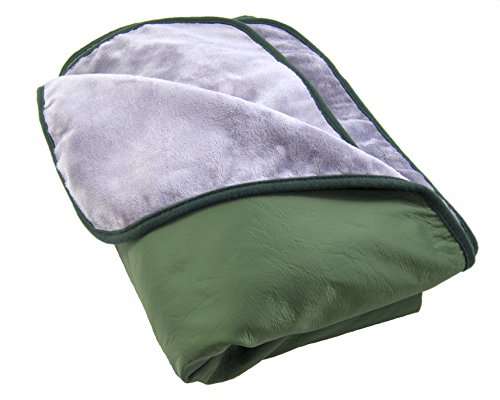 Fleece Nylon Blanket (Somerlan Outdoor Blanket, Water Resistant and Windproof Nylon with Ultra Soft Fleece Lining for Camping, Stadium, Beach, Picnic - Large)