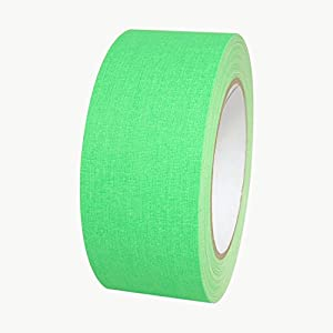 "Polyken 510-NEON/FLGRN225 510 Vinyl Coated Cloth Premium Grade Gaffers Tape, 11.5 mils Thick, 75' Length x 2"" Width, Neon Green"