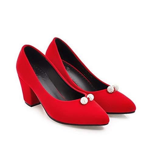 Compensées AdeeSu Red Femme Sandales SDC05822 wqZCxnPHp
