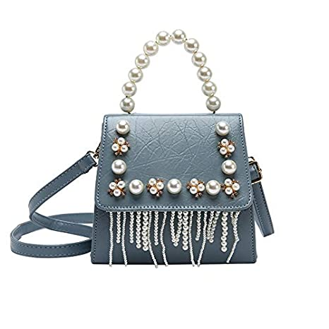 QXU-DIMDIM Wild Bag Female New Messenger Bag Tide Fashion Shoulder Bag Personality Casual Temperament Color : Blue
