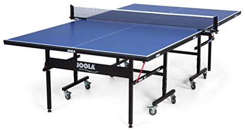JOOLA Inside - Professional MDF Indoor Table Tennis Table with Quick Clamp Ping Pong Net and Post Set - 10 Minute Easy Assembly - USATT Approved - Ping Pong Table ()