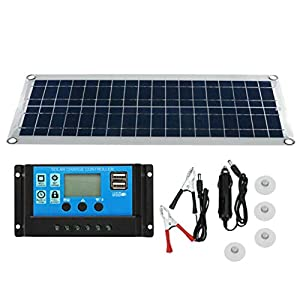 Moligh doll 30W Dual USB Flexible Solar Panel Kit+10A Controller+Clip Outdoor Car Charger Power