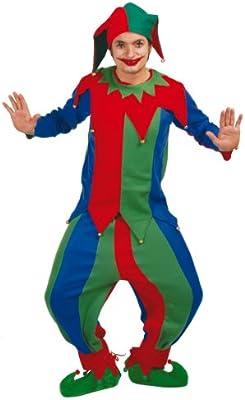 Disfraz Adulto BUFÓN: Amazon.es: Juguetes y juegos