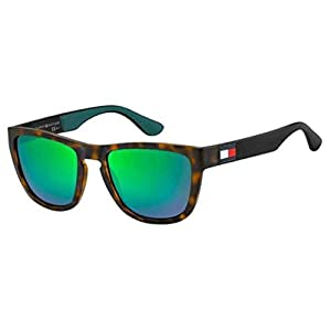 Tommy Hilfiger Men's Th1557s Rectangular Sunglasses, Havgreen, 54 mm
