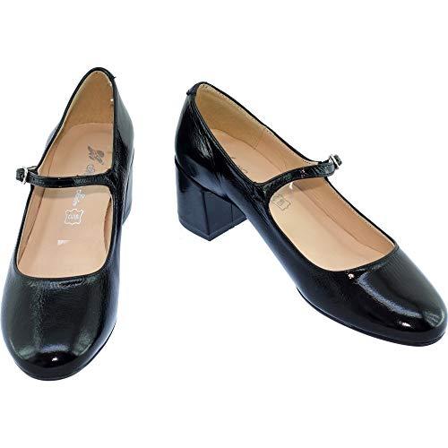 Et Vernis Cuir Talon Jean Chaussures Maria Soline Femme Jaen Marque Carré Babies Pour À En Espagne Souples Noir Confortables Fabriqué wxUSA8q