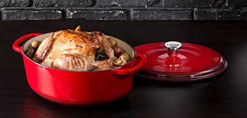 Lodge Enameled Red Cast Dutch Oven