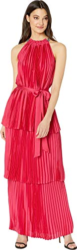Juicy Couture Women's Pleated Halter Maxi Dress Post Punk Pink 14