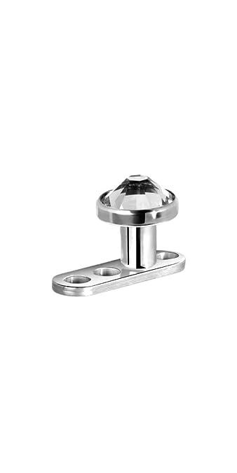 Micro Dermal Anchor Aufsatz Chirurgenstahl Kristall Stein Piercing
