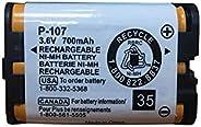 GEILIENERGY - Batería recargable para teléfono Panasonic HHR-P107 HHRP107 HHRP107 HHRP107 HHR-P107A HHRP107A (