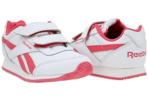 Reebok Mädchen Royal Cljog 2 2v Laufschuhe Blanco / Rosa (White/Fearless Pink)