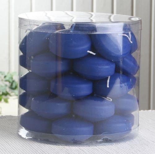 34er Dose Schwimmkerzen mit langer Brenndauer, Marineblau
