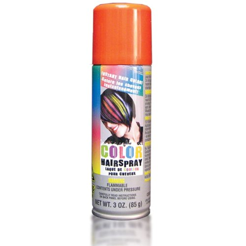 Price comparison product image Party Perfect Team Spirit Colored Hair Spray Accessory, Orange, Non-Damaging, 3 Ounces