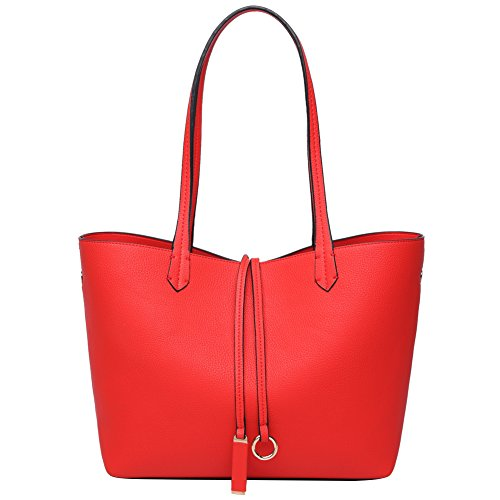 Tote Shoulder Bag (Red) - 1