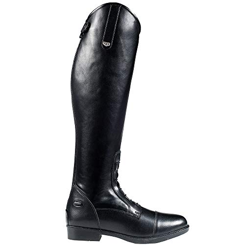 Horze 10 Wide Rover Synthetic Leather Leg Comfort Field Tall Boots Black