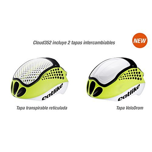 CATLIKE Cloud 352 Fluo Bike Helmet without Visor, White/Yellow, Small