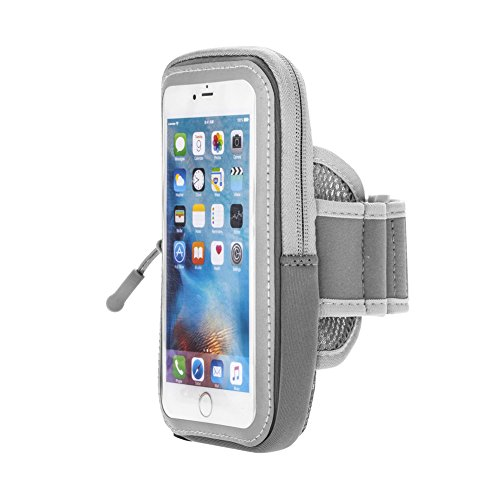 Price comparison product image Sports Running Armband Case For iPhone 7 6S 6 Plus 5.8in, JULAM Workout Cell Phone Armband Fit Samsung Galaxy S6 S7 S8/S8 Plus Waterproof Adjustable Reflective Velcro Arm Band Pouch With Key Holder