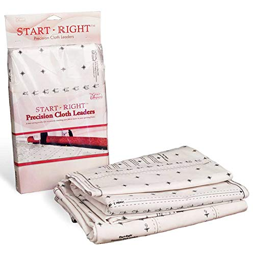 Grace Start Right 136 Inch Cloth Leaders for Machine or Hand Quilting Frames by Grace