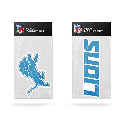 Rico NFL Detroit Lions 2-Pack Die Cut Team Logo Magnet Set by Rico