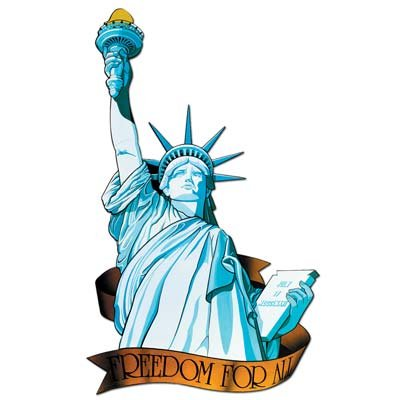 Miss Liberty Cutout Party Accessory (1 count)